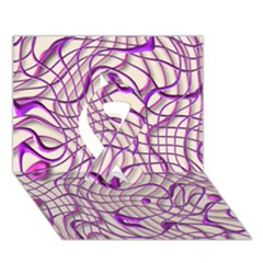 Ribbon Chaos 2 Lilac Ribbon 3D Greeting Card (7x5)