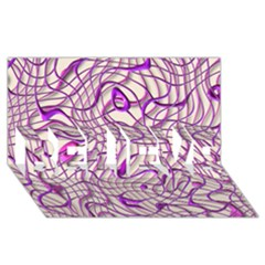 Ribbon Chaos 2 Lilac Believe 3d Greeting Card (8x4)