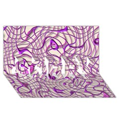Ribbon Chaos 2 Lilac SORRY 3D Greeting Card (8x4)