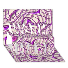 Ribbon Chaos 2 Lilac Work Hard 3d Greeting Card (7x5)
