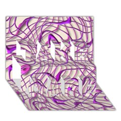 Ribbon Chaos 2 Lilac Take Care 3d Greeting Card (7x5)