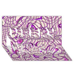 Ribbon Chaos 2 Lilac Merry Xmas 3d Greeting Card (8x4)