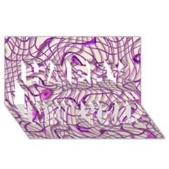 Ribbon Chaos 2 Lilac Happy New Year 3d Greeting Card (8x4)