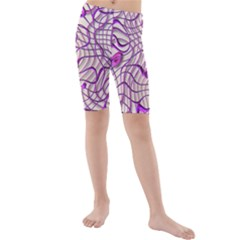 Ribbon Chaos 2 Lilac Kid s swimwear