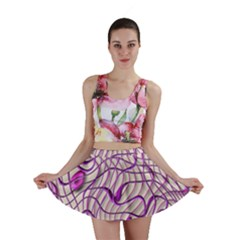 Ribbon Chaos 2 Lilac Mini Skirts