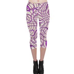 Ribbon Chaos 2 Lilac Capri Leggings