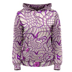 Ribbon Chaos 2 Lilac Women s Pullover Hoodies