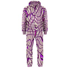 Ribbon Chaos 2 Lilac Hooded Jumpsuit (Men)
