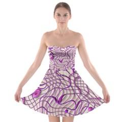 Ribbon Chaos 2 Lilac Strapless Bra Top Dress