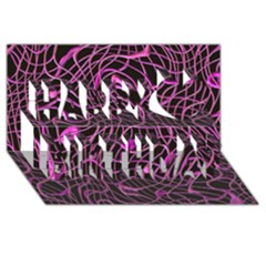 Ribbon Chaos 2 Pink Happy Birthday 3D Greeting Card (8x4)