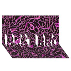 Ribbon Chaos 2 Pink Best Bro 3d Greeting Card (8x4)