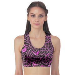 Ribbon Chaos 2 Pink Sports Bra