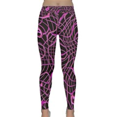 Ribbon Chaos 2 Pink Yoga Leggings