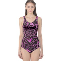 Ribbon Chaos 2 Pink Women s One Piece Swimsuits