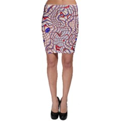 Ribbon Chaos 2 Red Blue Bodycon Skirts
