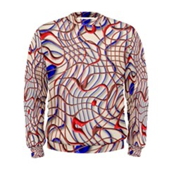 Ribbon Chaos 2 Red Blue Men s Sweatshirts