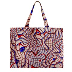 Ribbon Chaos 2 Red Blue Zipper Tiny Tote Bags