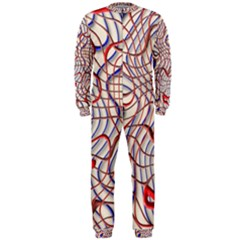 Ribbon Chaos 2 Red Blue Onepiece Jumpsuit (men)