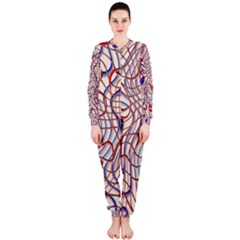 Ribbon Chaos 2 Red Blue OnePiece Jumpsuit (Ladies)