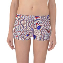Ribbon Chaos 2 Red Blue Boyleg Bikini Bottoms