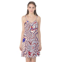 Ribbon Chaos 2 Red Blue Camis Nightgown