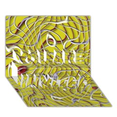 Ribbon Chaos 2 Yellow You Are Invited 3d Greeting Card (7x5)