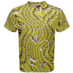 Ribbon Chaos 2 Yellow Men s Cotton Tees