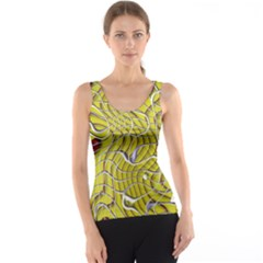 Ribbon Chaos 2 Yellow Tank Tops