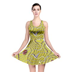Ribbon Chaos 2 Yellow Reversible Skater Dresses