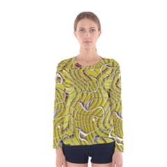 Ribbon Chaos 2 Yellow Women s Long Sleeve T-shirts