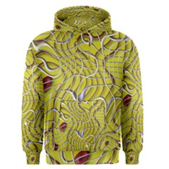 Ribbon Chaos 2 Yellow Men s Pullover Hoodies