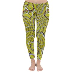 Ribbon Chaos 2 Yellow Winter Leggings