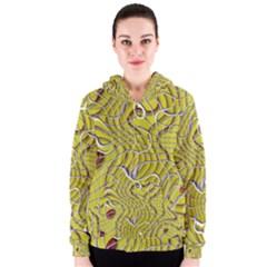 Ribbon Chaos 2 Yellow Women s Zipper Hoodies