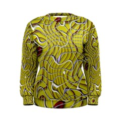 Ribbon Chaos 2 Yellow Women s Sweatshirts