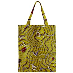 Ribbon Chaos 2 Yellow Zipper Classic Tote Bags