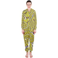 Ribbon Chaos 2 Yellow Hooded Jumpsuit (Ladies)