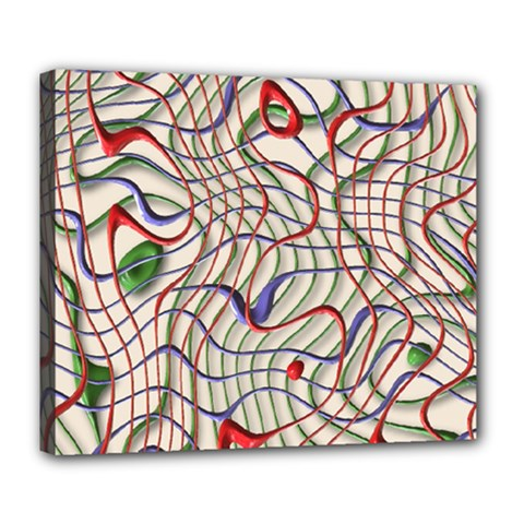 Ribbon Chaos 2 Deluxe Canvas 24  X 20