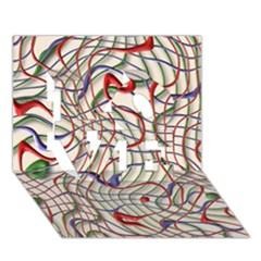 Ribbon Chaos 2 LOVE 3D Greeting Card (7x5)