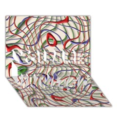 Ribbon Chaos 2 YOU ARE INVITED 3D Greeting Card (7x5)