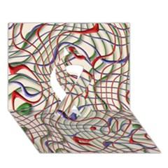 Ribbon Chaos 2 Ribbon 3D Greeting Card (7x5)