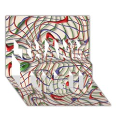 Ribbon Chaos 2 THANK YOU 3D Greeting Card (7x5)