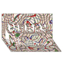 Ribbon Chaos 2 Merry Xmas 3D Greeting Card (8x4)