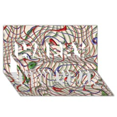 Ribbon Chaos 2 Happy New Year 3d Greeting Card (8x4)