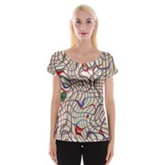Ribbon Chaos 2 Women s Cap Sleeve Top