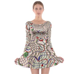 Ribbon Chaos 2 Long Sleeve Skater Dress