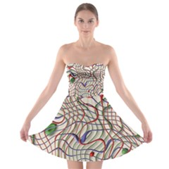 Ribbon Chaos 2 Strapless Bra Top Dress