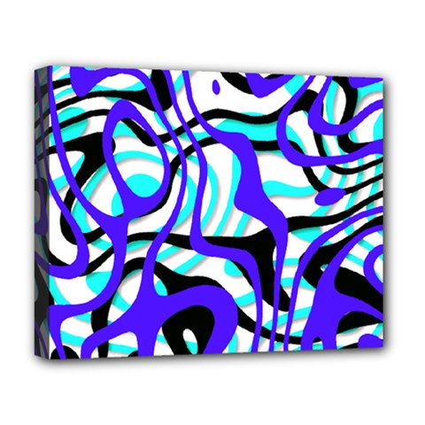 Ribbon Chaos Ocean Deluxe Canvas 20  x 16