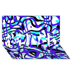 Ribbon Chaos Ocean #1 DAD 3D Greeting Card (8x4)