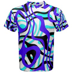 Ribbon Chaos Ocean Men s Cotton Tees