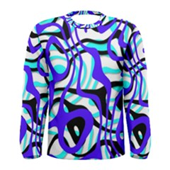Ribbon Chaos Ocean Men s Long Sleeve T Shirts
